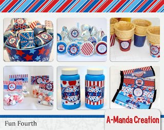 4th of July Printable Party Collection