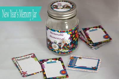 New Year S Printable Memory Jar Project Unique Party Supplies Stationery Gifts