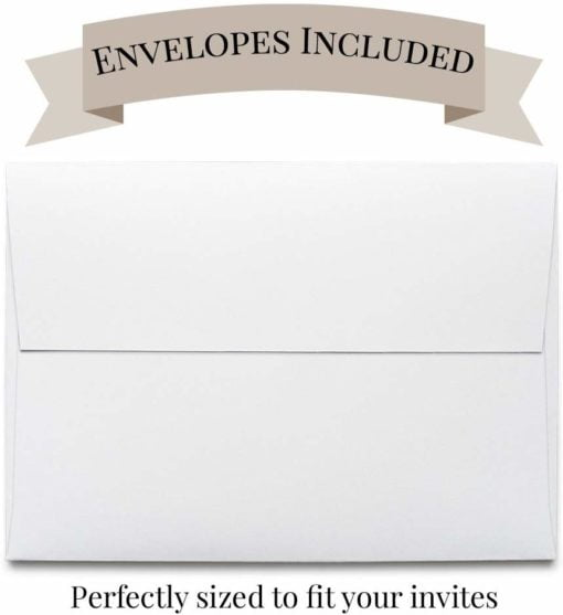 white envelopes included