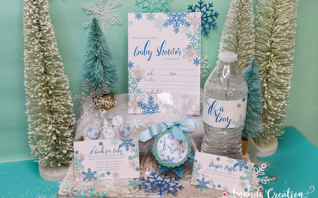 It's a Boy! Snowflake Baby Shower Party Supplies