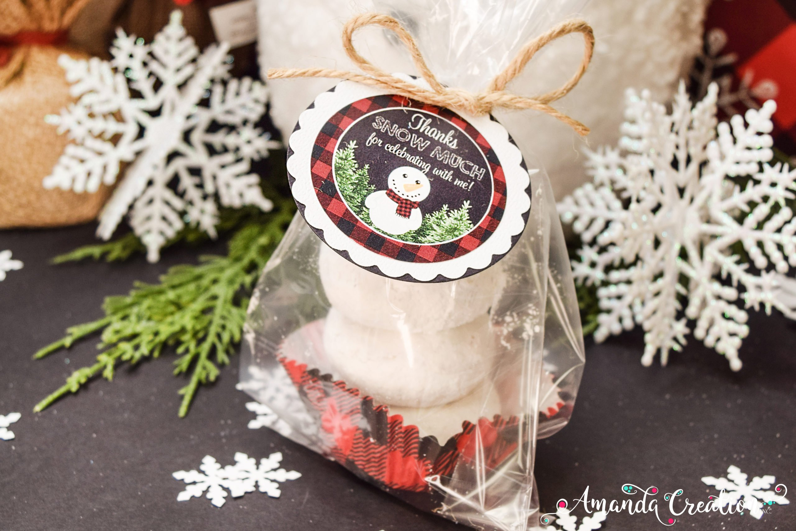 snowman party favor sticker