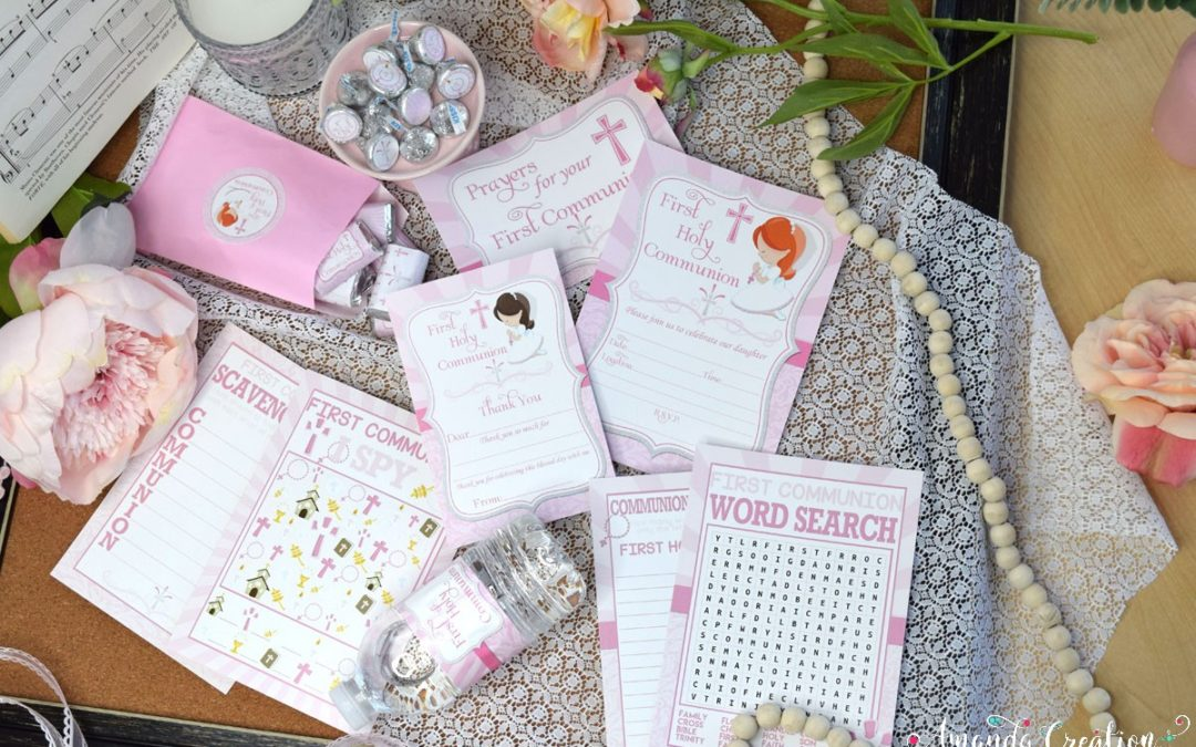 A Sweet Girl's First Holy Communion Party