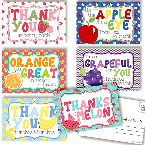 Fruit Thank You Postcards