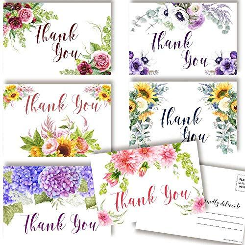 Floral Thank You Cards Send Beautiful Appreciation