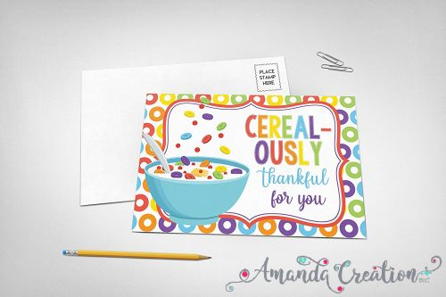 Cereal Thank You Card
