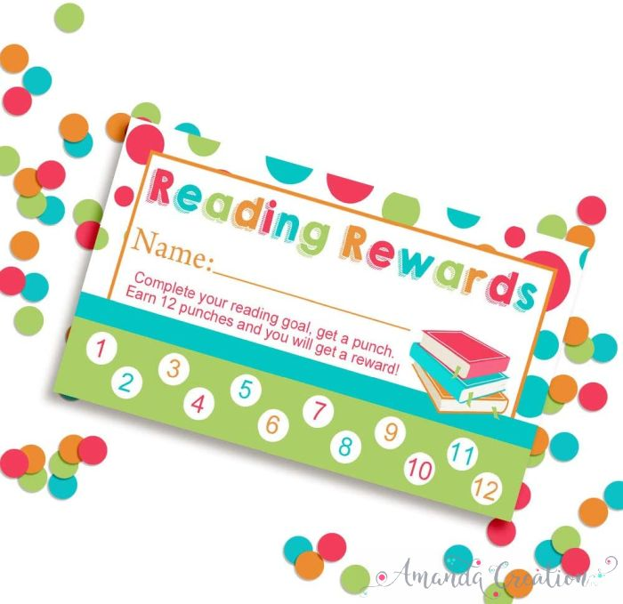Reading Rewards Punch Cards
