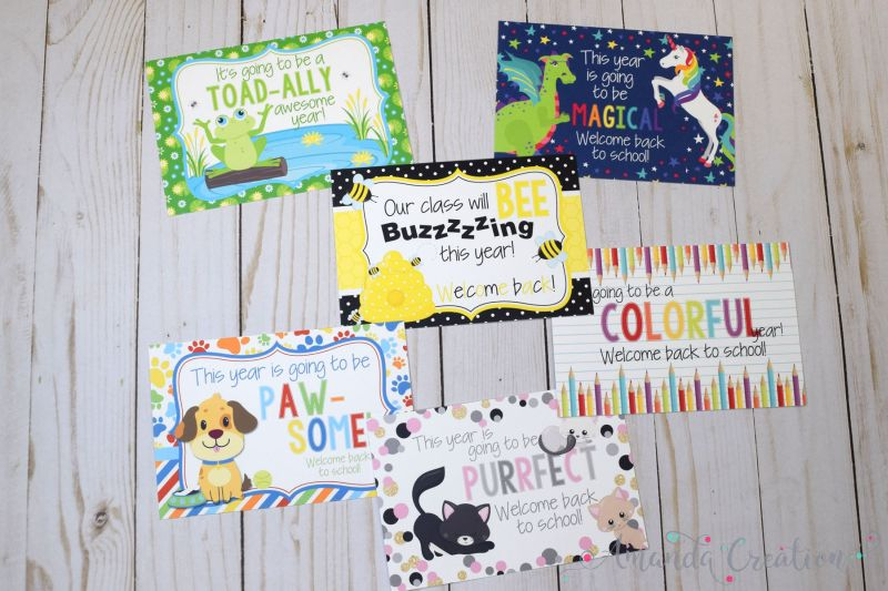 Inspiring Welcome Back Teacher Postcards