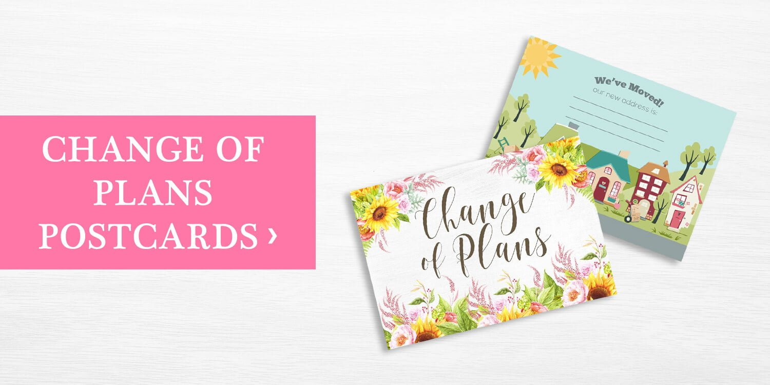 Change of Plans Postcards