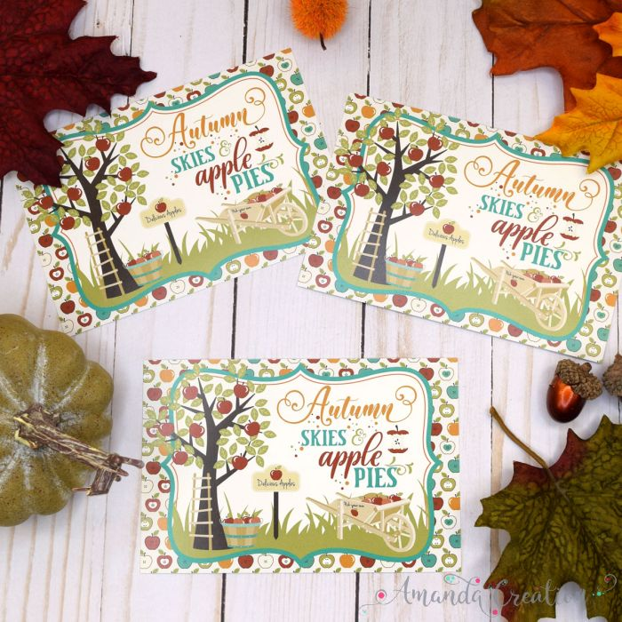 Festive Fall Postcards