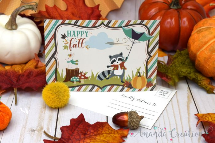 Festive Fall Postcards for Family and Friends