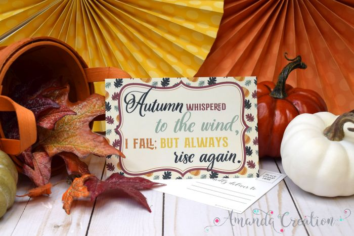 Inspirational Autumn Postcards Send Fall Beauty