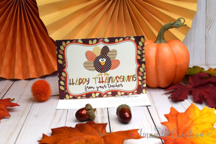 Thanksgiving Teacher Postcards