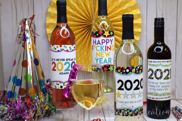 New Year's Wine Bottle Labels Will Make You Laugh