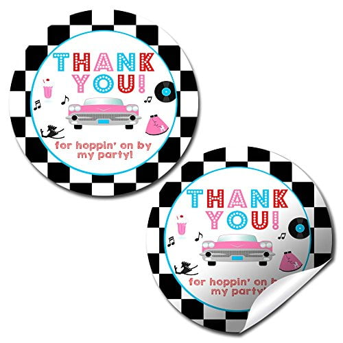 50's Sock Hop Party Stickers