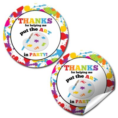 Art & Painting Party Stickers