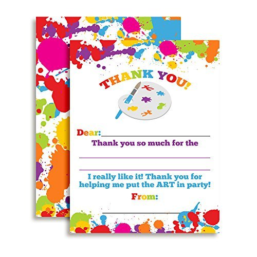 Art & Painting Thank You Cards