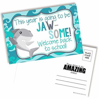 Shark Back to School Postcards