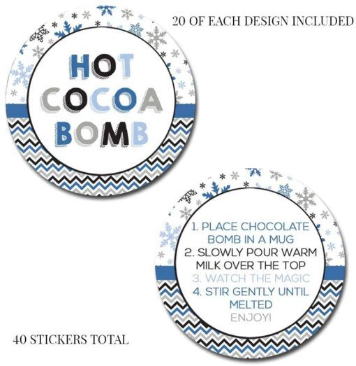 hot cocoa bomb stickers