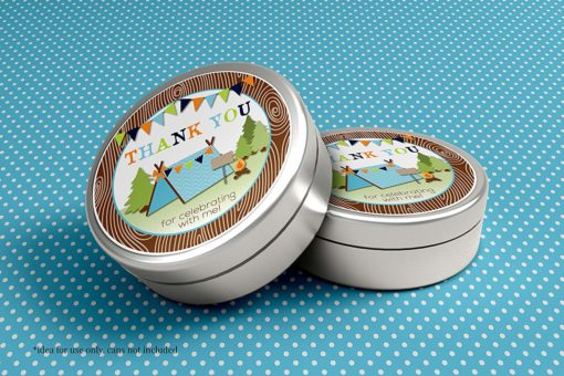 Camping Party Stickers (Boy)