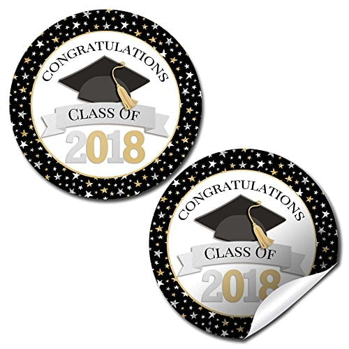 Classic Star Graduation Party Stickers (2018)