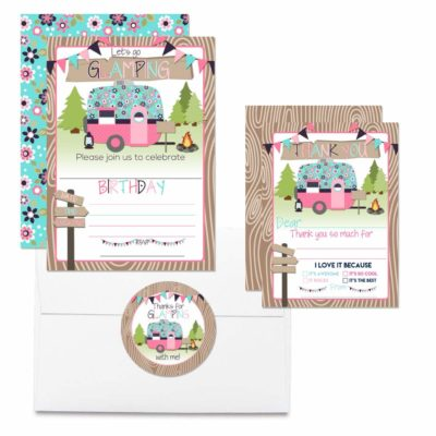 Glamping Thank You Cards