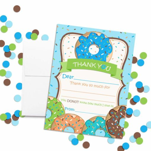 Donut Grow Up Thank You Cards (Boy)