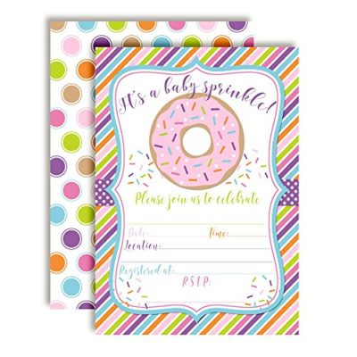 Donut Baby Shower Invitations