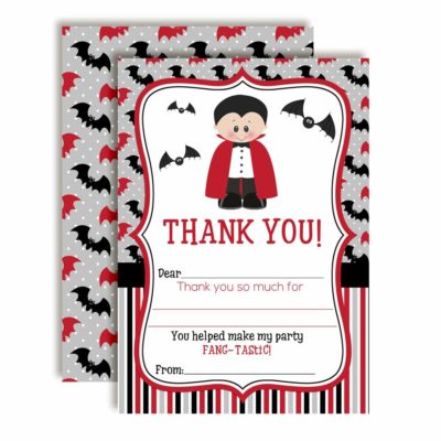 Dracula Thank You Cards