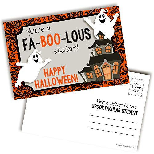 halloween teacher postcards