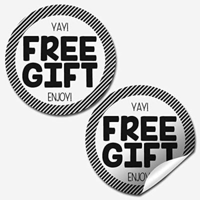 Free Gift Customer Appreciation Stickers