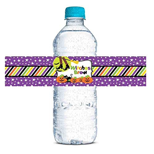 ghouls goblins witches water bottle labels