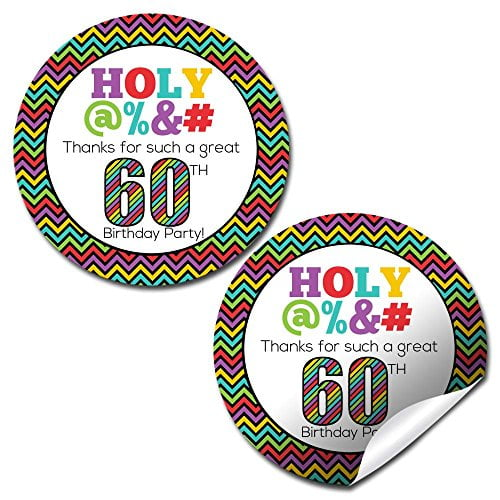 Holy @%*# 60th Birthday Party Stickers