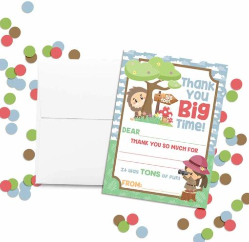 Hunt for Bigfoot Thank You Cards