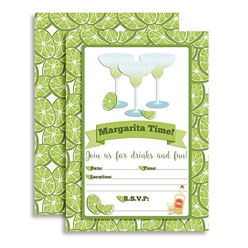 Margarita Time Party Invitations