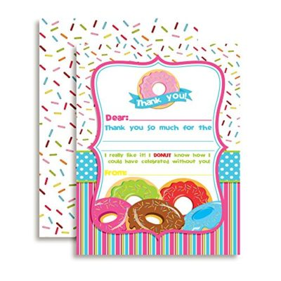 Pile of Donuts Thank You Cards
