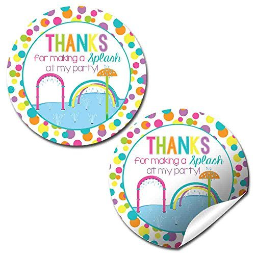Splash Pad Party Stickers (Girl)