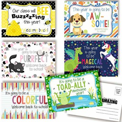 Welcome To My Class Back To School Postcards For Teachers (Variety Pack)